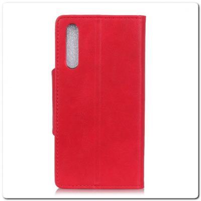 Чехол Книжка Flip Wallet с Отделениями для Карт на Samsung Galaxy A70 Красный