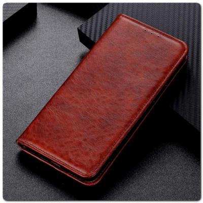 Чехол Книжка с Скрытыми Магнитами Авто Закрытие для Samsung Galaxy A10 Коричневый