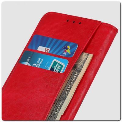 Чехол Книжка с Скрытыми Магнитами Авто Закрытие для Samsung Galaxy A10 Красный