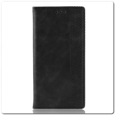 Чехол Книжка с Скрытыми Магнитами Авто Закрытие для Samsung Galaxy A40 Черный