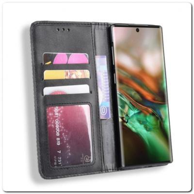 Чехол Книжка с Скрытыми Магнитами Авто Закрытие для Samsung Galaxy Note 10 Черный