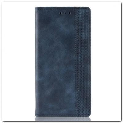 Чехол Книжка с Скрытыми Магнитами Авто Закрытие для Samsung Galaxy Note 10 Синий