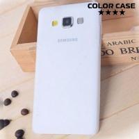 Ультратонкий пластиковый чехол для Samsung Galaxy A3 белый