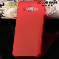 Ультратонкий пластиковый чехол для Samsung Galaxy A3 красный
