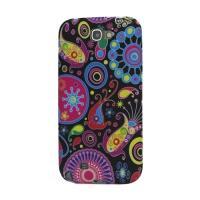 Силиконовый чехол для Samsung Galaxy Note 2 Colorful Flower
