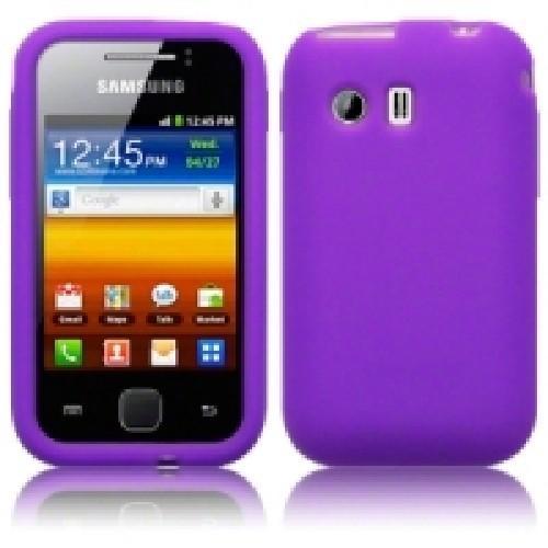 Силиконовый чехол для Samsung Galaxy Y фиолетовый