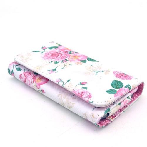 Чехол-футляр для смартфона с рисунком White and Rose Flowers