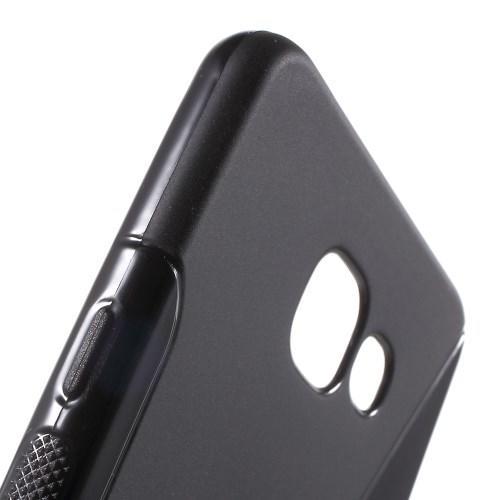 Силиконовый чехол для Samsung Galaxy A5 SM-A510F 2016 черный S-образный
