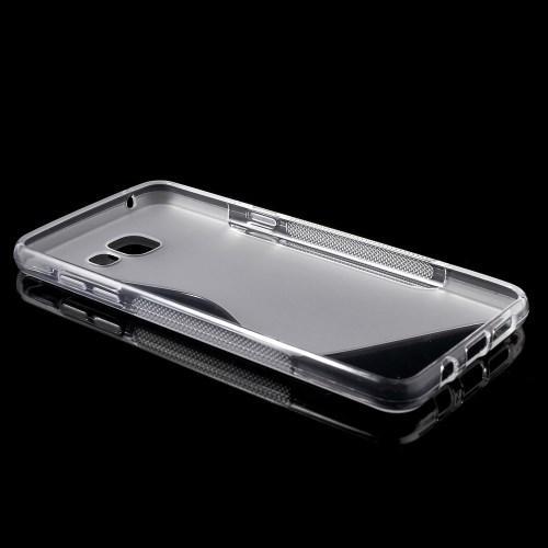 Силиконовый чехол для Samsung Galaxy A5 SM-A510F 2016 прозрачный S-образный