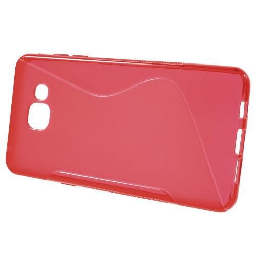 Силиконовый чехол для Samsung Galaxy A5 SM-A510F 2016 красный S-образный