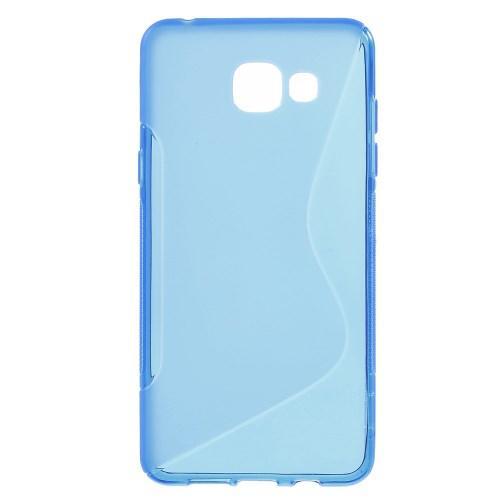 Силиконовый чехол для Samsung Galaxy A5 SM-A510F 2016 синий S-образный