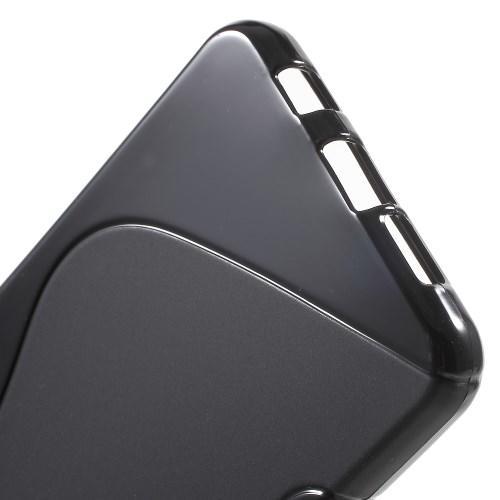 Силиконовый чехол для Samsung Galaxy A7 SM-A710F 2016 черный S-образный