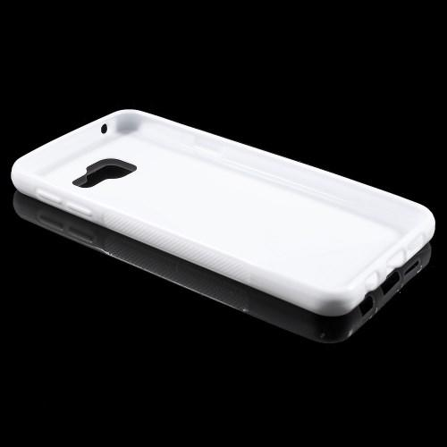 Силиконовый чехол для Samsung Galaxy A3 2016 белый S-образный