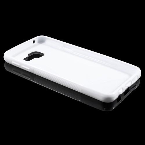 Силиконовый чехол для Samsung Galaxy A7 SM-A710F 2016 белый S-образный