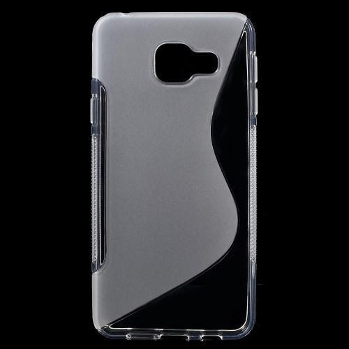 Силиконовый чехол для Samsung Galaxy A7 SM-A710F 2016 прозрачный S-образный