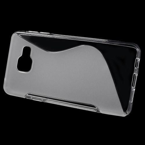 Силиконовый чехол для Samsung Galaxy A3 2016 прозрачный S-образный