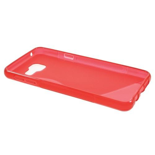 Силиконовый чехол для Samsung Galaxy A7 SM-A710F 2016 красный S-образный