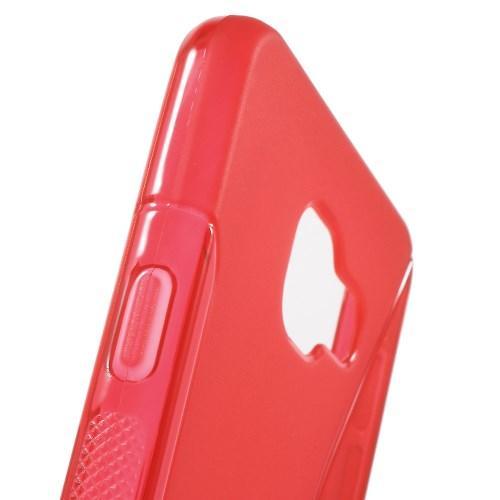 Силиконовый чехол для Samsung Galaxy A3 2016 красный S-образный