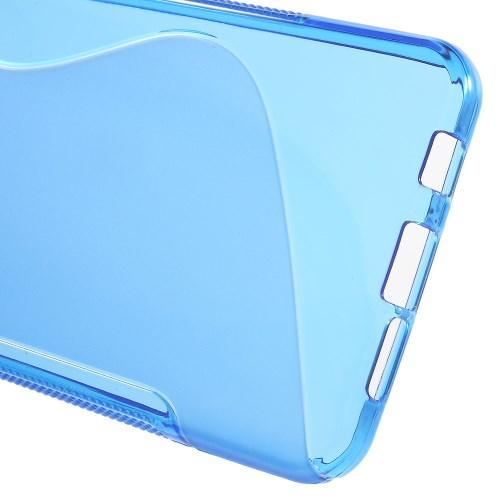 Силиконовый чехол для Samsung Galaxy A3 2016 синий S-образный