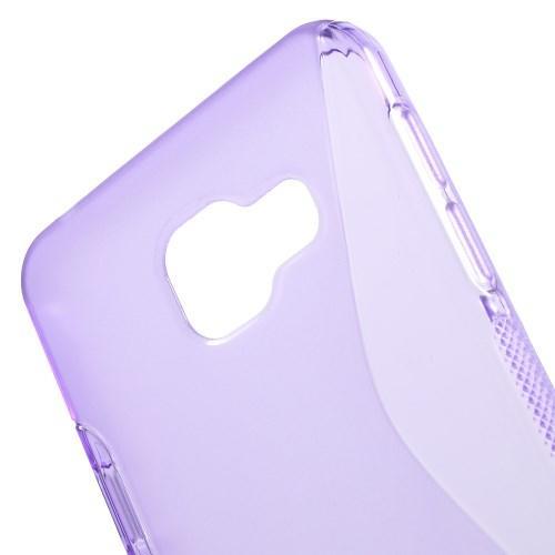 Силиконовый чехол для Samsung Galaxy A3 2016 фиолетовый S-образный