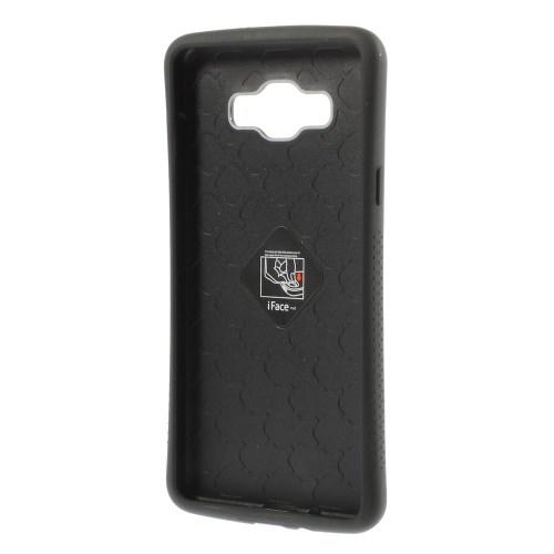 Противоударный гибридный чехол iFace для Samsung Galaxy A7 Черный