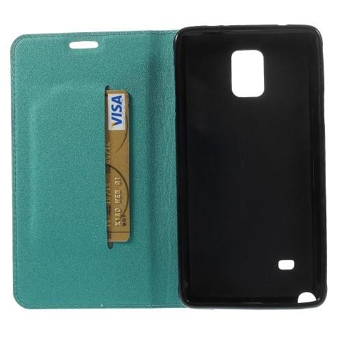 Чехол книжка для Samsung Galaxy Note 4 голубой Mercury Case On