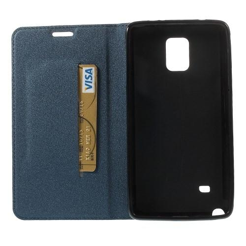Чехол книжка для Samsung Galaxy Note 4 синий Mercury Case On