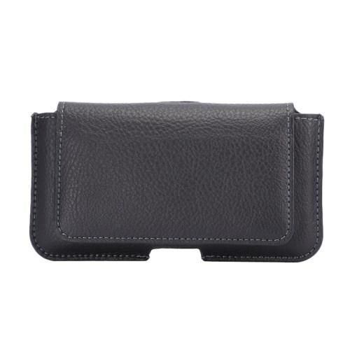 Чехол-футляр с отделением для карточки на пояс для смартфона черный