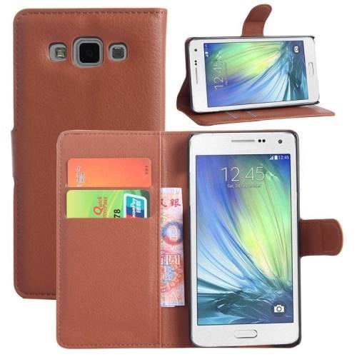 Чехол книжка для Samsung Galaxy A5, Galaxy A5 Duos - Коричневый