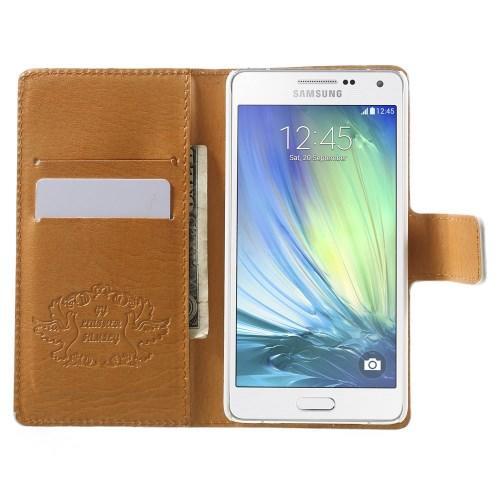 Чехол книжка для Samsung Galaxy A5 White Flower Pattern