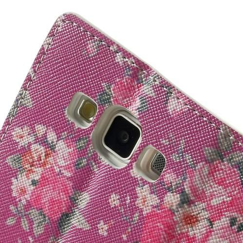 Чехол книжка для Samsung Galaxy A5 Rose Flower Pattern
