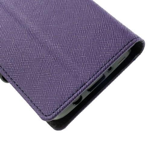 Flip чехол книжка для Samsung Galaxy A3 фиолетовый