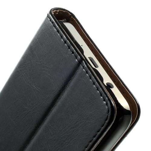 Чехол книжка для Samsung Galaxy A3, Galaxy A3 Duos черный LichiCase