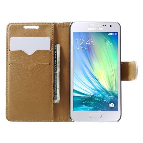 Чехол книжка для Samsung Galaxy A3, Galaxy A3 Duos белый LichiCase