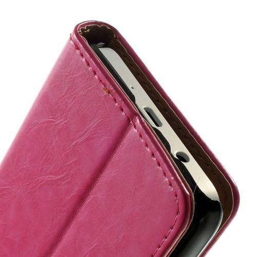 Чехол книжка для Samsung Galaxy A3, Galaxy A3 Duos розовый LichiCase