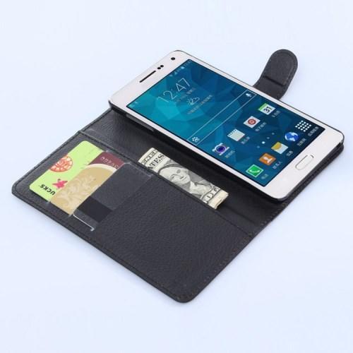 Чехол книжка для Samsung Galaxy A7, Galaxy A7 Duos черный LichiCase