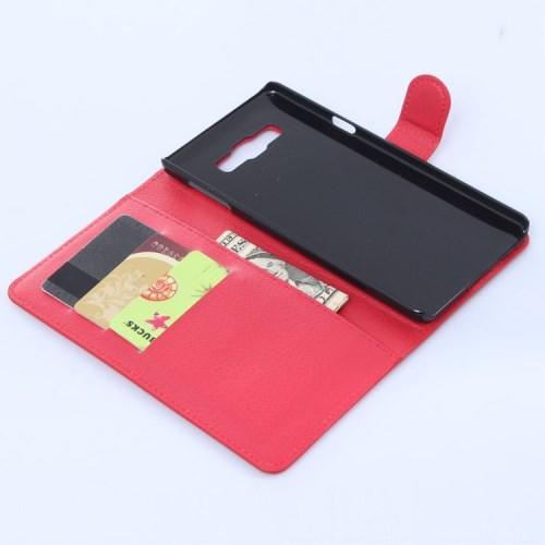 Чехол книжка для Samsung Galaxy A7, Galaxy A7 Duos - Красный