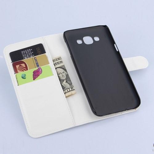 Чехол книжка для Samsung Galaxy E7, Galaxy E7 Duos - Белый