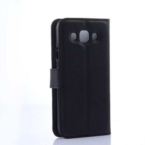 Чехол книжка для Samsung Galaxy E5, Galaxy E5 Duos черный LichiCase