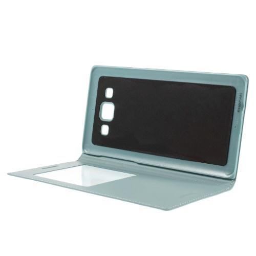 Чехол книжка голубой для Samsung Galaxy A5, Galaxy A5 Duos с функцией активное окно