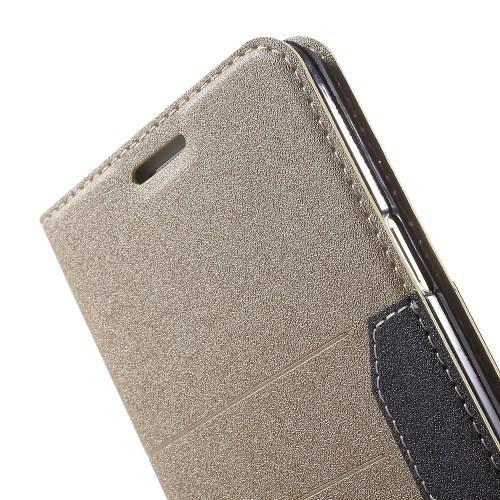 Flip чехол книжка для Samsung Galaxy A7 золотой Mercury CaseOn