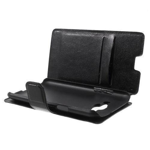 Чехол книжка для Samsung Galaxy J1 черный