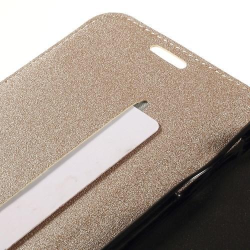 Чехол книжка для Samsung Galaxy S6 edge золотой Mercury CaseOn
