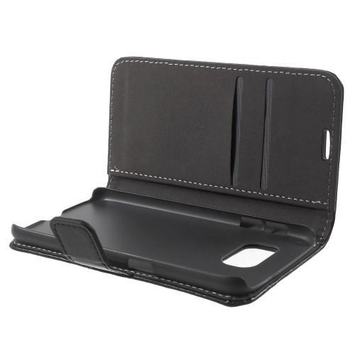 Чехол книжка для Samsung Galaxy S6 черный Flexishield