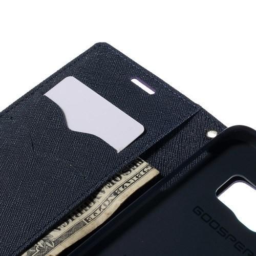 Чехол книжка для Samsung Galaxy S6 edge Mercury Goospery фиолетовый