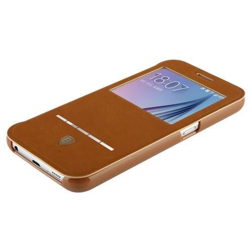 Чехол с окном для Samsung Galaxy S6 - BASEUS Terse коричневый