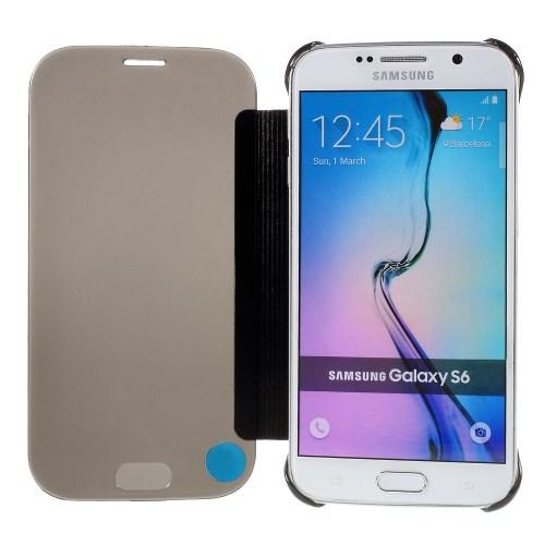 """Чехол для Samsung Galaxy S6 с функцией """"Прозрачное окно"""" - черный"""