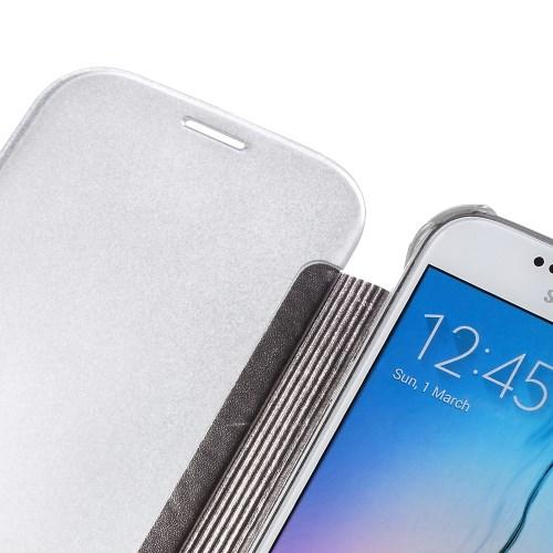 """Чехол для Samsung Galaxy S6 с функцией """"Прозрачное окно"""" - серый"""