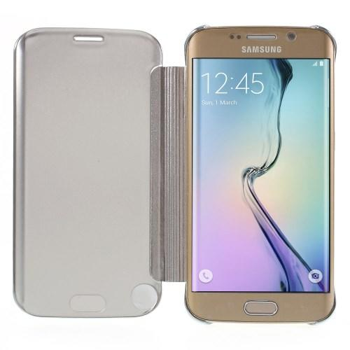 """Чехол для Samsung Galaxy S6 edge с функцией """"Прозрачное окно"""" - серый"""