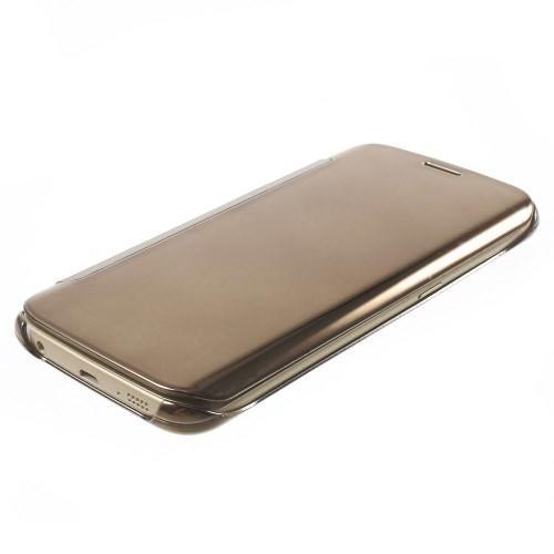 """Чехол для Samsung Galaxy S6 edge с функцией """"Прозрачное окно"""" - золотой"""